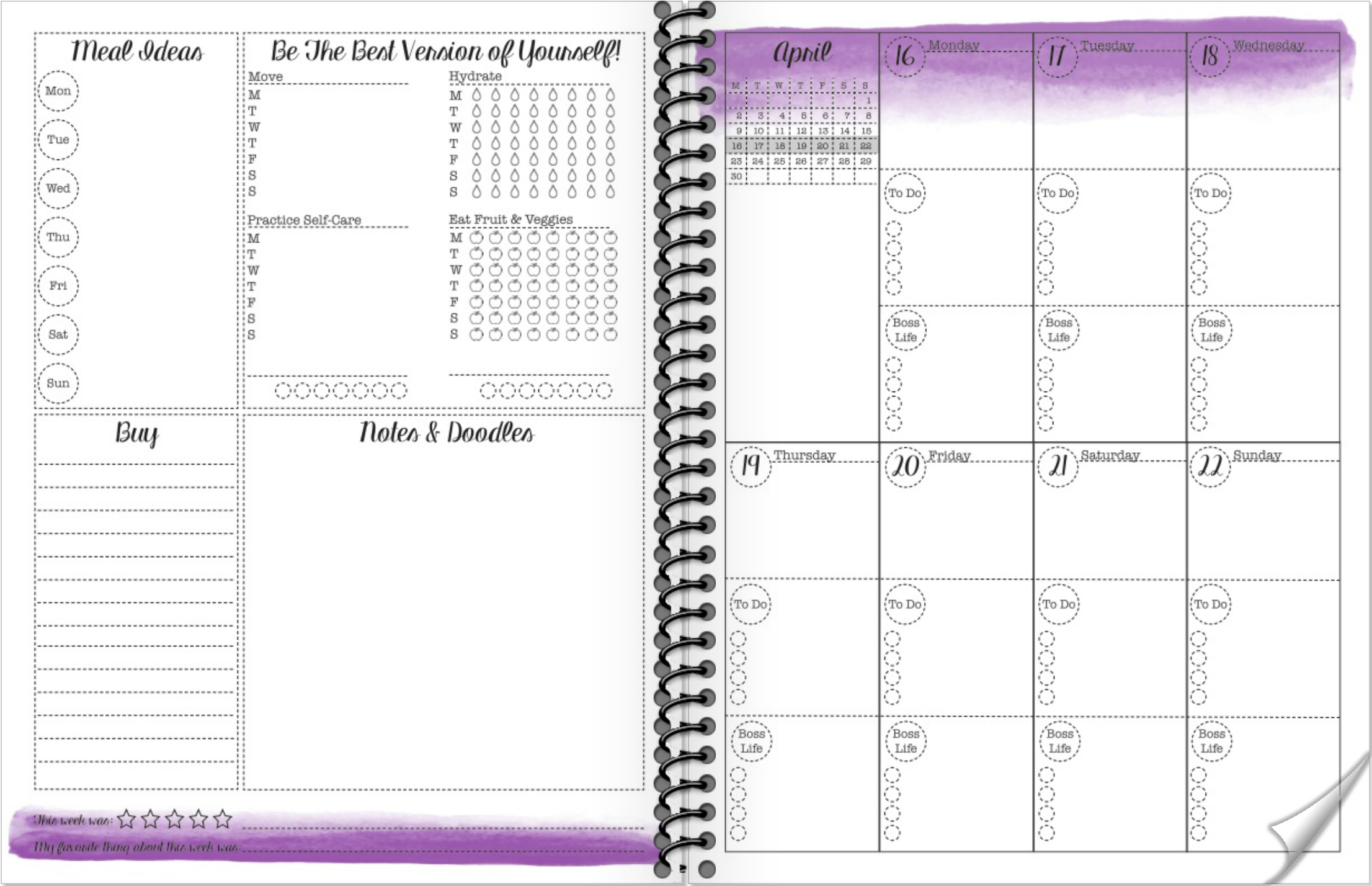 Free Printable 2018 Monthly and Weekly Planner – Sannipanni