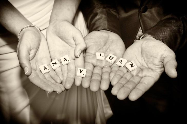 Novios con nombre y letras