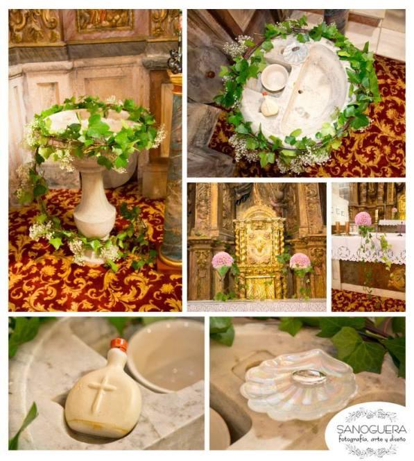 Flores para bautizo en iglesia