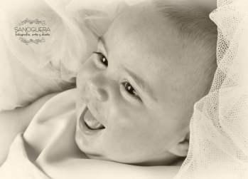 Foto Bebé blanco y negro