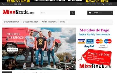 MissRock, web Venta online
