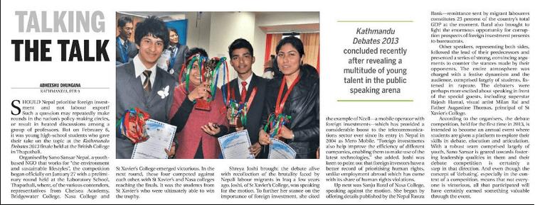 Kathmandu Debates' 2013 – Coverage by The Kathmandu Post