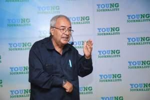 Prof. Rama K. Regmee on session Writing in Journalism