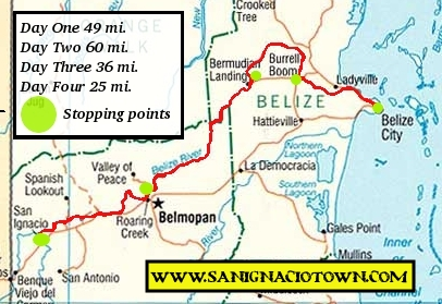 la-ruta-maya-san-ignacio-belize-race-map