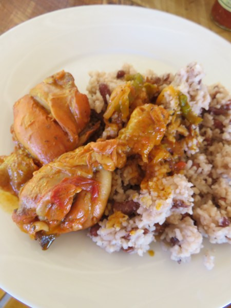 Stewed Chicken Rice & Beans Belize's National Dish