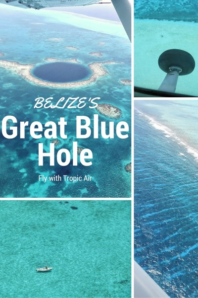 A charter flight over Belize's Great Blue Hole. Absolutely amazing.