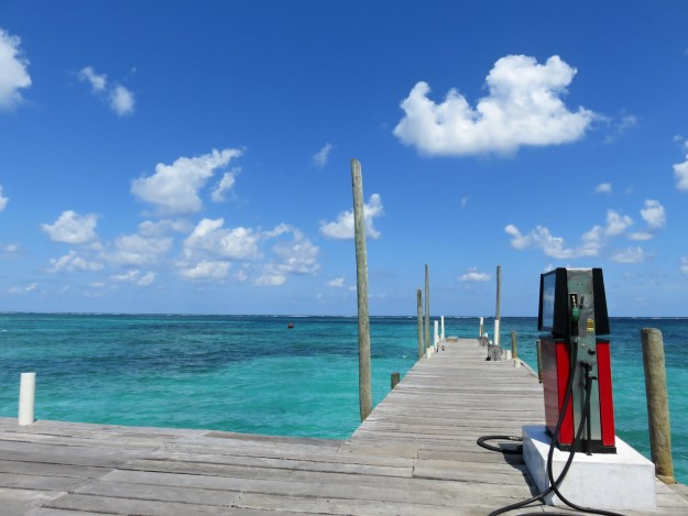 Best Gas Station View in the World, San Pedro, Belize