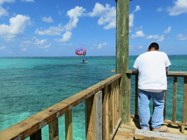 View from the new top deck at Palapa Bar, San Pedro, Belize