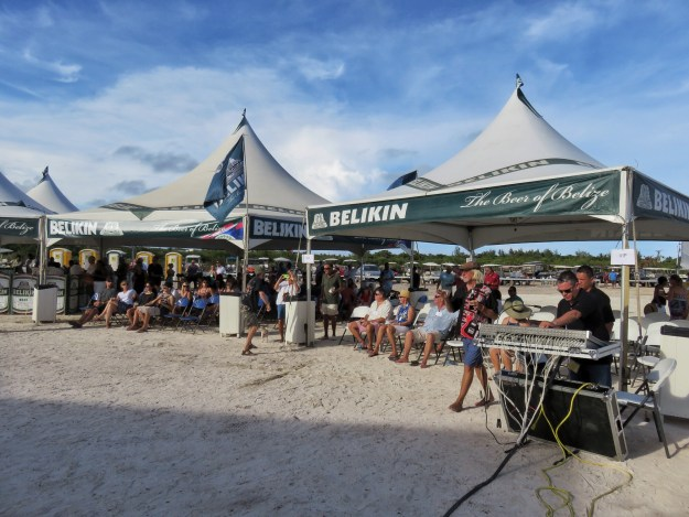 Belikin Tents and Crowd at Steve Miller San Pedro Belize
