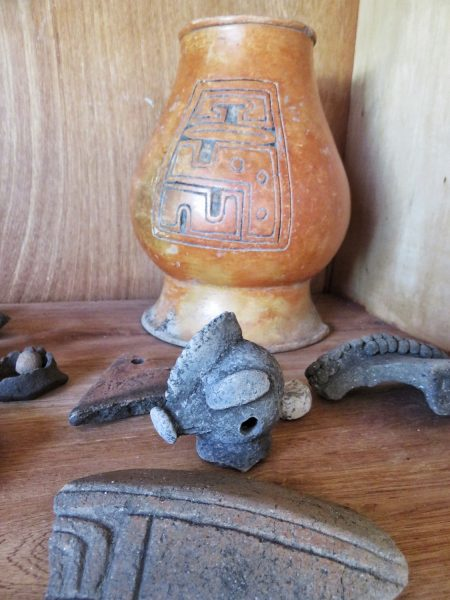 Maya artifacts found on Cayo Frances Lagoon, Ambergris Caye, Belize