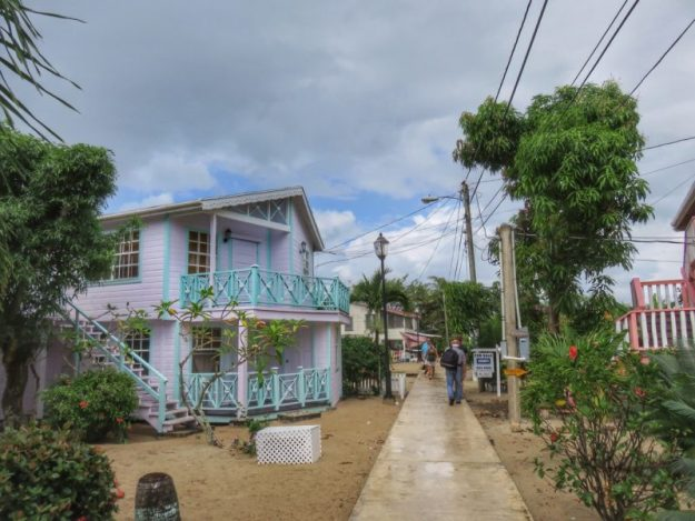 The sidewalk on a cloudy day, Placencia Belize