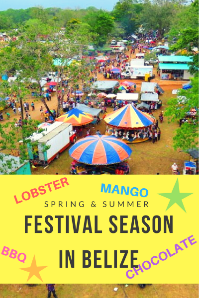 Spring and Summer are such great times to VISIT BELIZE - it's time for FESTIVALS! Chocolate fest, mangoes, LOBSTER and more...