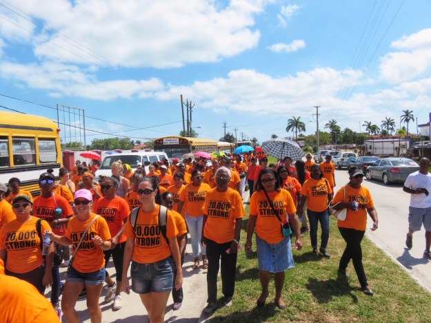 Women and Girls Rally in Belize City, 20000 Strong