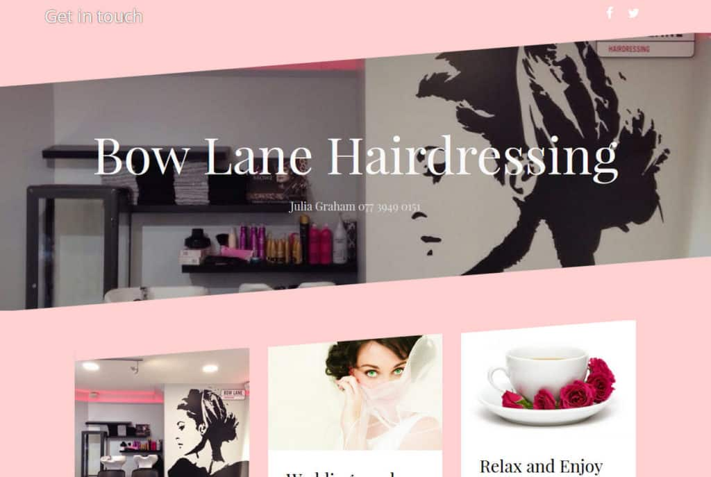 Bow Lane Hairdressing website