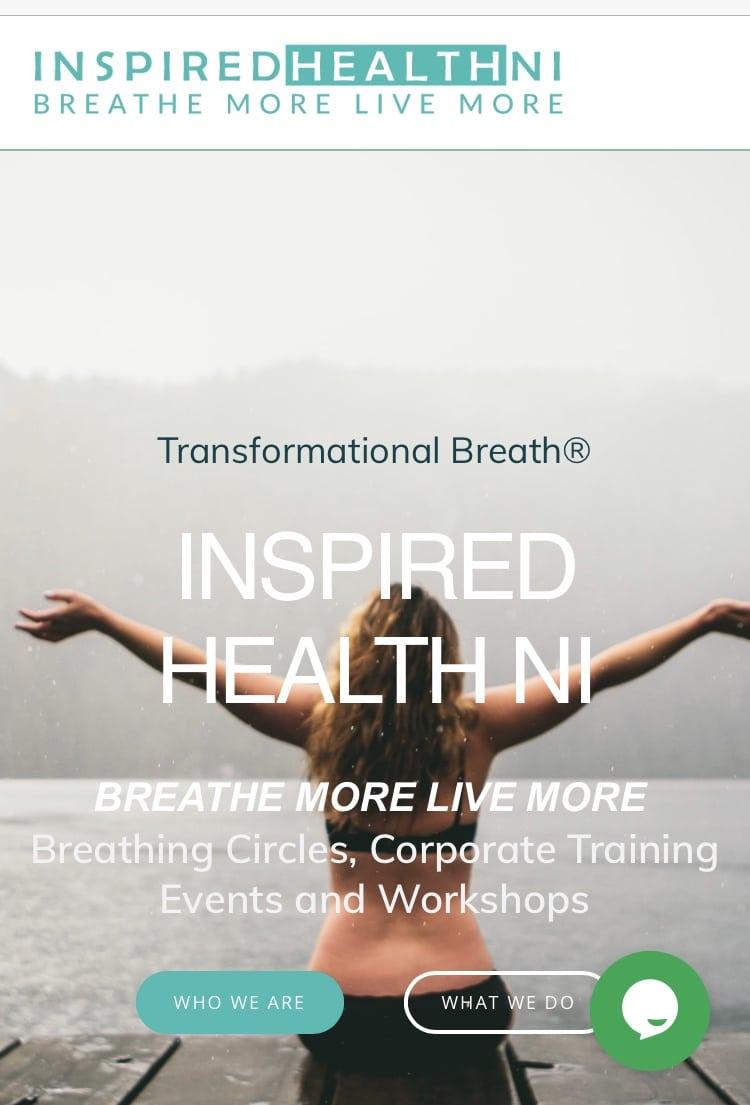 Inspired Health NI website