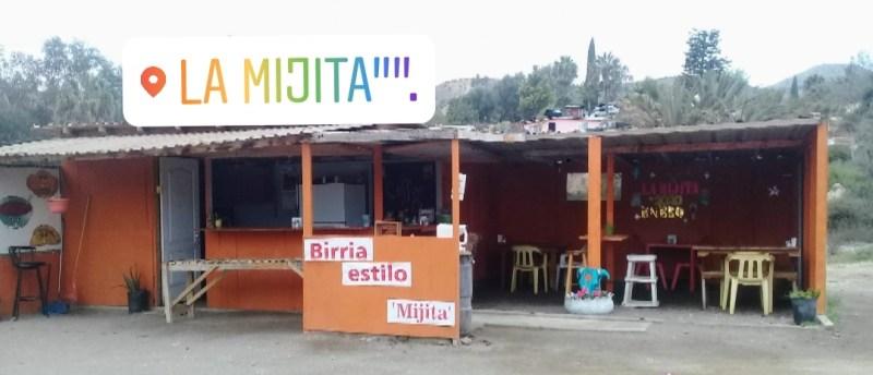 La Mijita Birria Tacos Quesadillas in El Rosario, Baja California Mexico