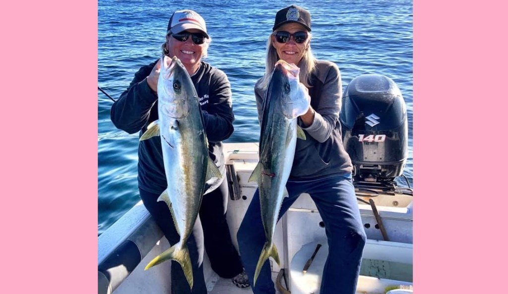 Sportfishing - female anglers - in San Quintin, Baja California, Mexico