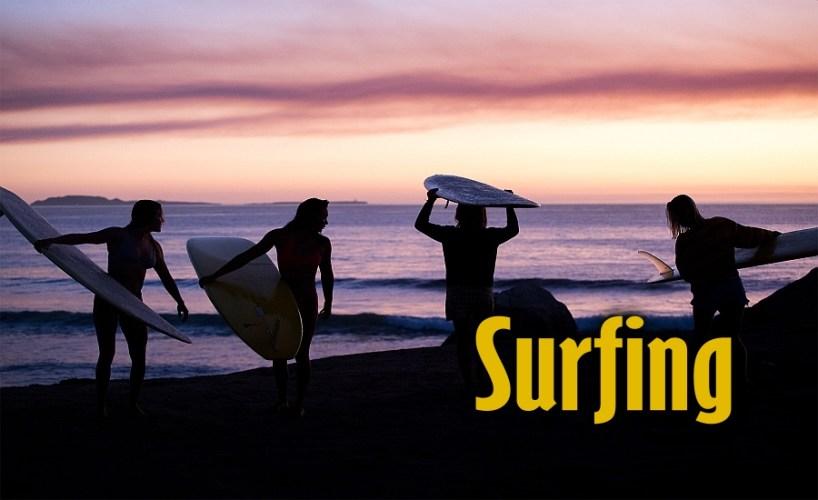 Surfing in San Quintin, Baja California Mexico