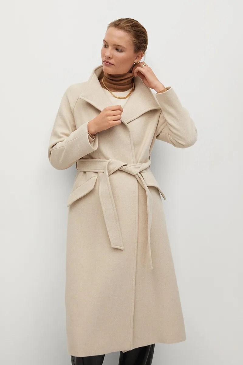 Oatmeal Coat Zara