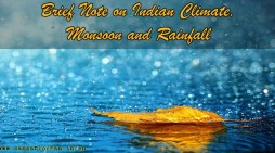 Brief Note on Indian Climate, Monsoon and Rainfall