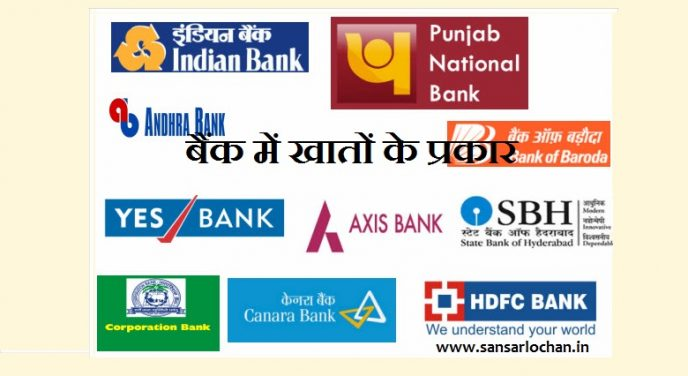Types of Bank Accounts in Hindi