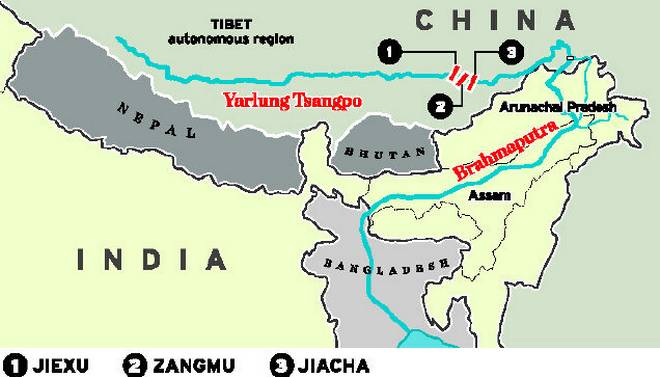 brahmputra river dispute between india and china