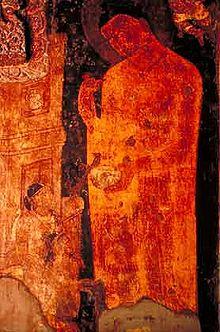 buddha giving kamandal ajanta