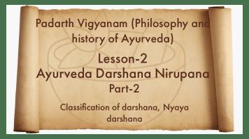 Nayaya darshana, Nyaya darshan, Ayurveda darshana Nirupana, padarth vigyan,