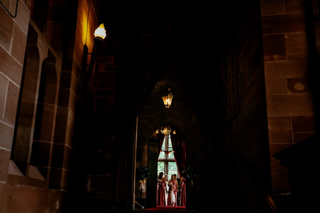Emma & Alex Peckforton castle wedding - Sansom Photography-11