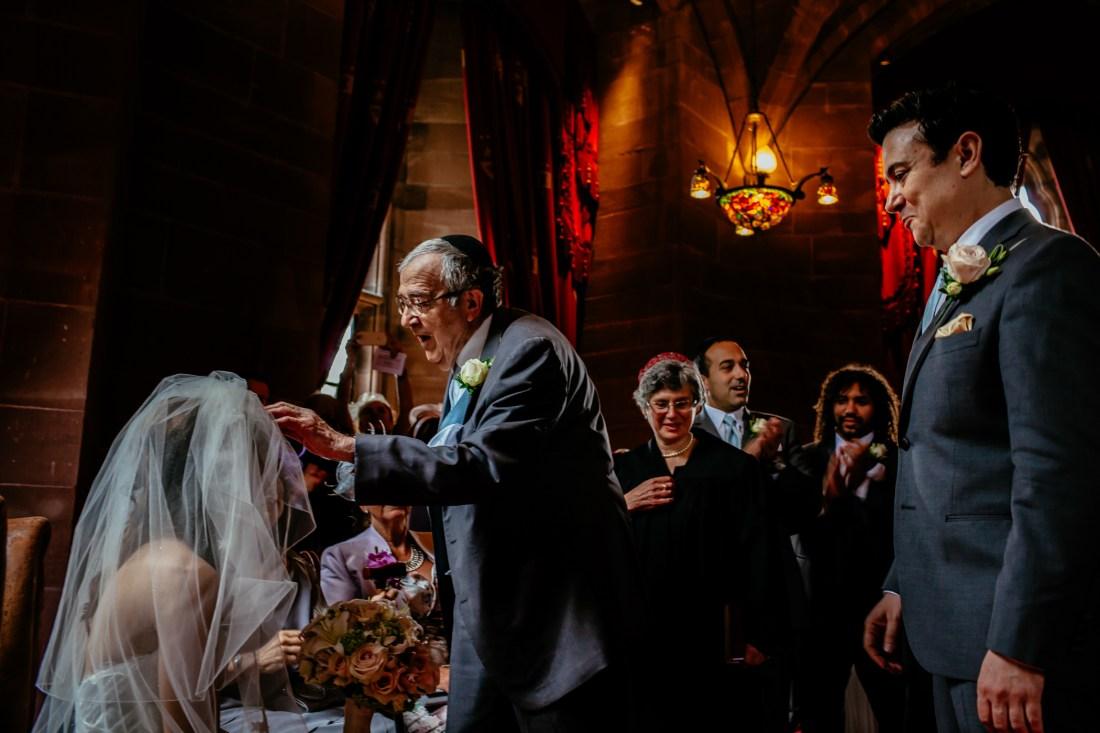 Emma & Alex Peckforton castle wedding - Sansom Photography-13