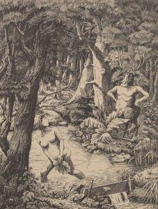 (1943) El baño en el bosque