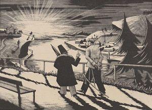 Zeichnung zum Gedicht Geheimnis (1924)