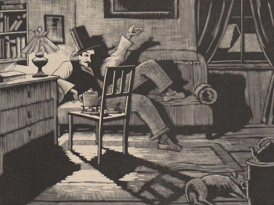 Zeichnung zum Gedicht Stubenfrühling (1924)