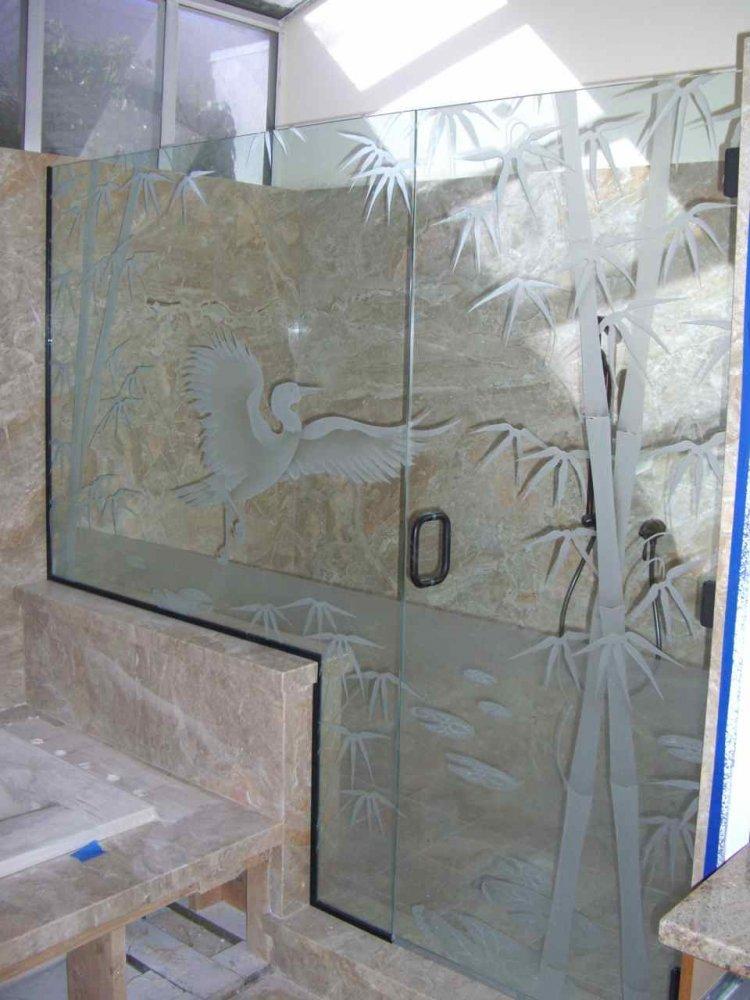 Decorative Glass for the Bathroom adds a Custom Flair