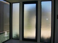 Entry Glass: Coordinated Etched Glass Doors & Windows