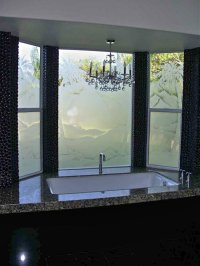 Etched Window Glass - Sans Soucie Art Glass