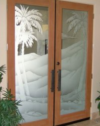 etched glass panels