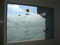 Stunning Etched glass Window with color! - Sans Soucie Art ...