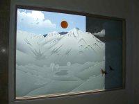 etched glass window - Sans Soucie Art Glass