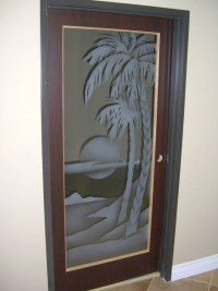 etched glass door