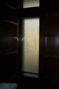 etched glass window - Sans Soucie Art Glass