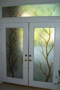 etched door glass - Sans Soucie Art Glass