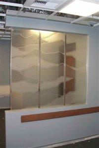 etched glass partitions - Sans Soucie Art Glass