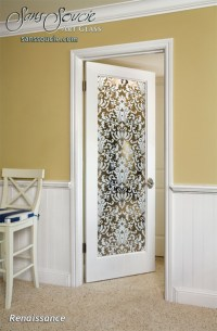 Renaissance Interior Doors w/ Glass Etching Victorian Decor