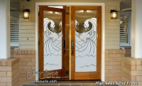 High Seas Etched Glass Front Doors Coastal Decor