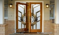Sun Odyssey Etched Glass Front Doors Art Deco Design
