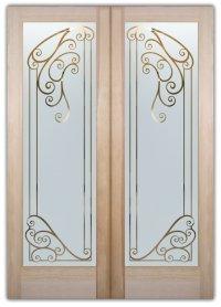Castello Etched Glass Front Doors Mediterranean Decor