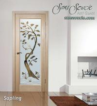 Sapling Etched Glass Front Doors Asian Style - Sans Soucie