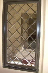 Beveled Lttce Glass Window Leaded Glass Traditional Style