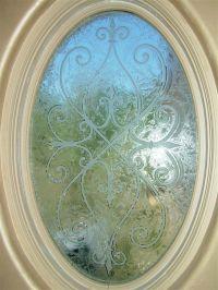 Cordoba Oval Glass Window Etched Glass Tuscan Design
